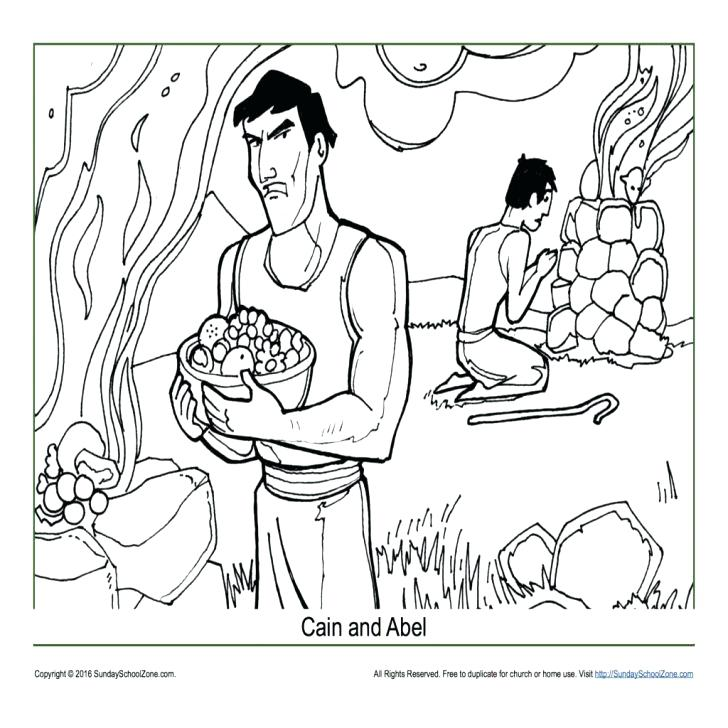 Cain And Abel Coloring Page at GetDrawings.com | Free for ...