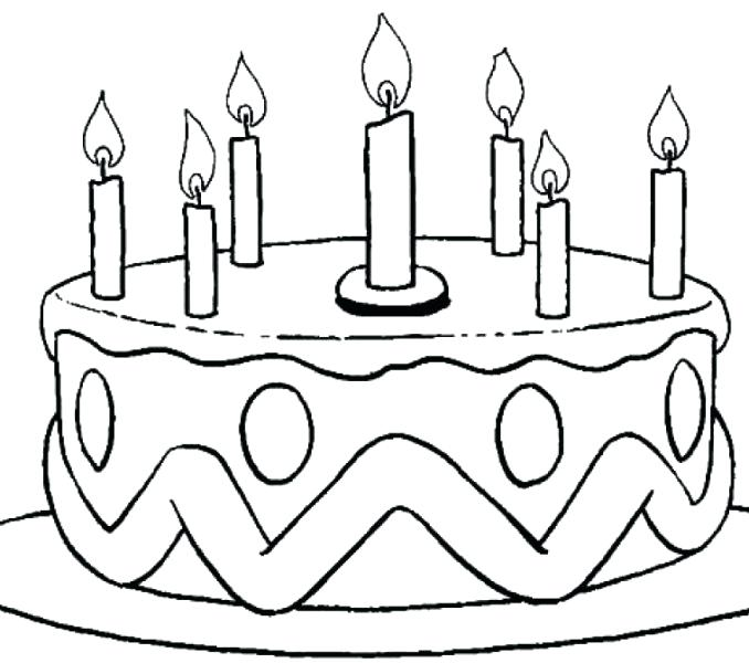 678x600 Birthday Cake Coloring Pages Birthday Cake Colouring Page