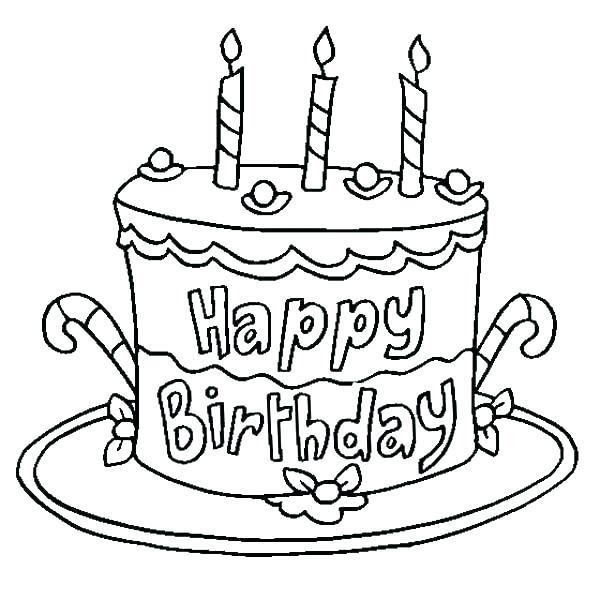 600x600 Blank Birthday Cake Coloring Page Coloring Pages Birthday Birthday