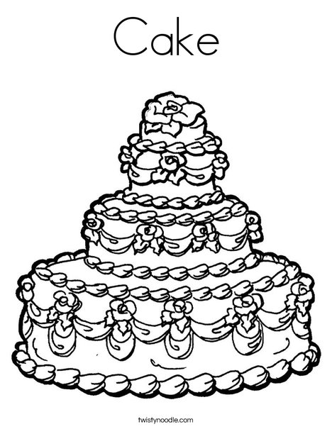 468x605 Cake Coloring Page