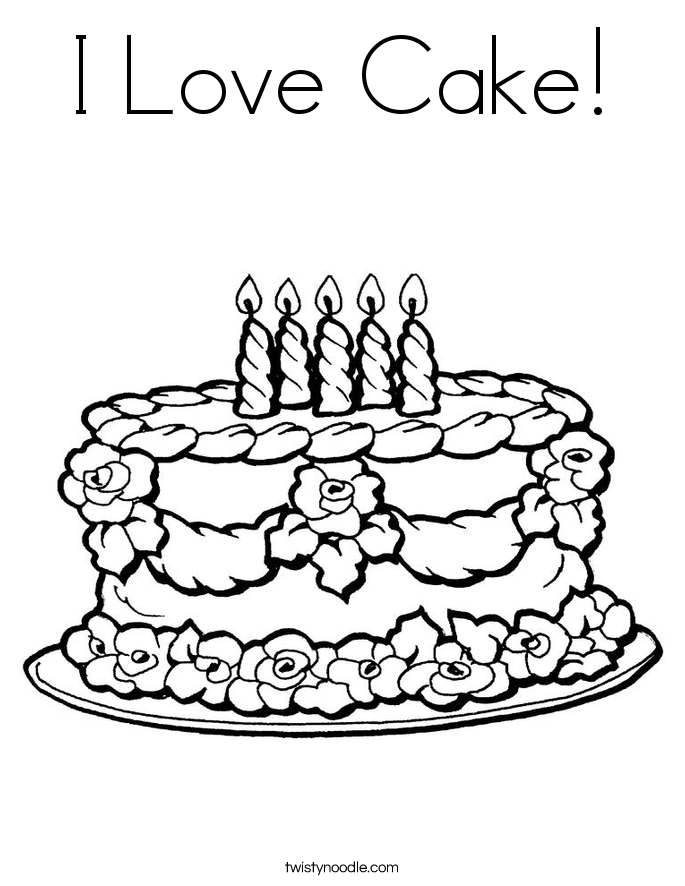 685x886 Cake Coloring Pages