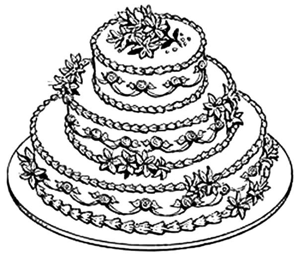 600x512 Beautiful Wedding Cake Coloring Pages Best Place To Color