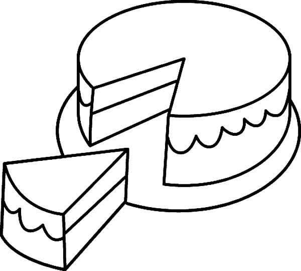 600x539 Frosted Cake Coloring Pages Best Place To Color