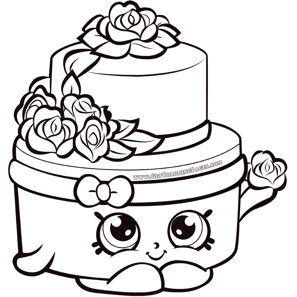 1024x1024 Shopkins Wedding Cake Coloring