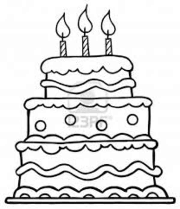 600x698 Birthday Cake Coloring Page