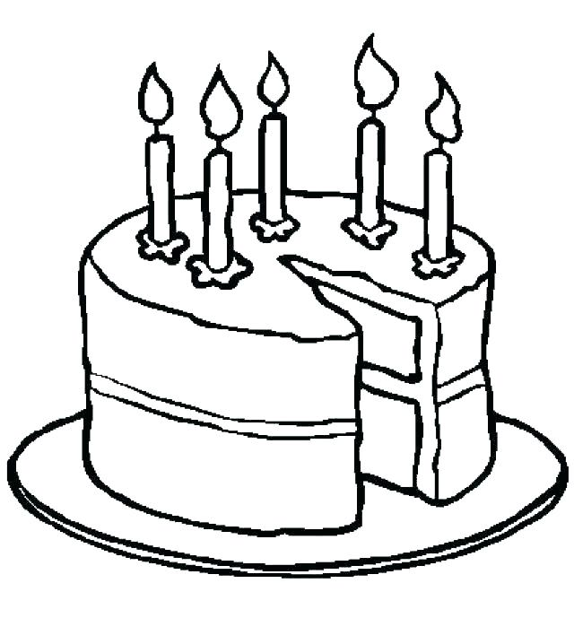 640x689 Blank Birthday Cake Coloring Page Birthday Cake Coloring Page S