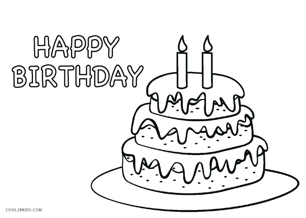 1024x730 Coloring Pages Birthday Cake Coloring Page Sheets Free Birthday