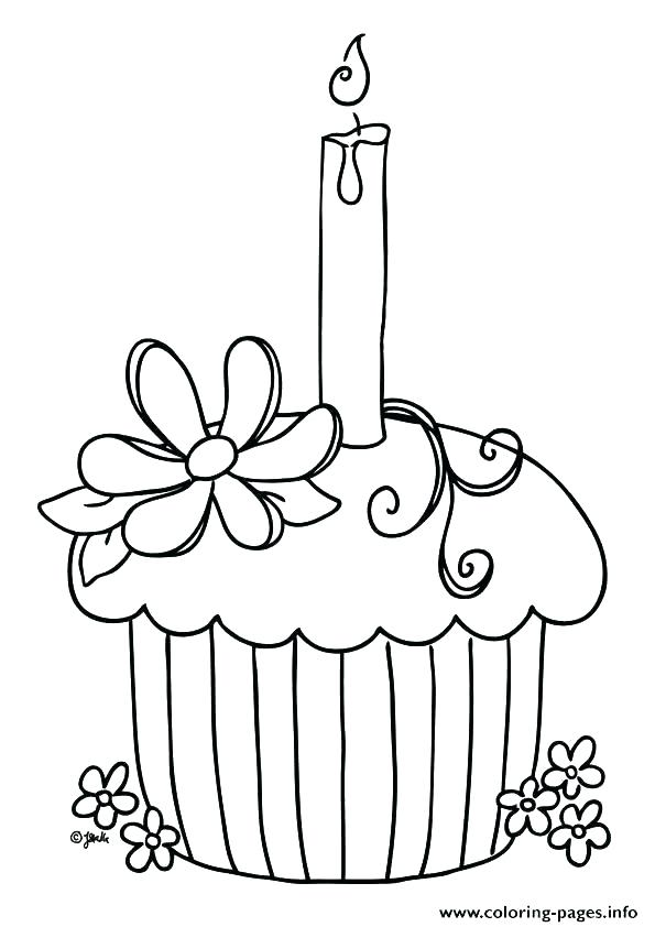 595x842 Coloring Pages Of Cupcakes Cupcake Printable Birthday Sheets Free