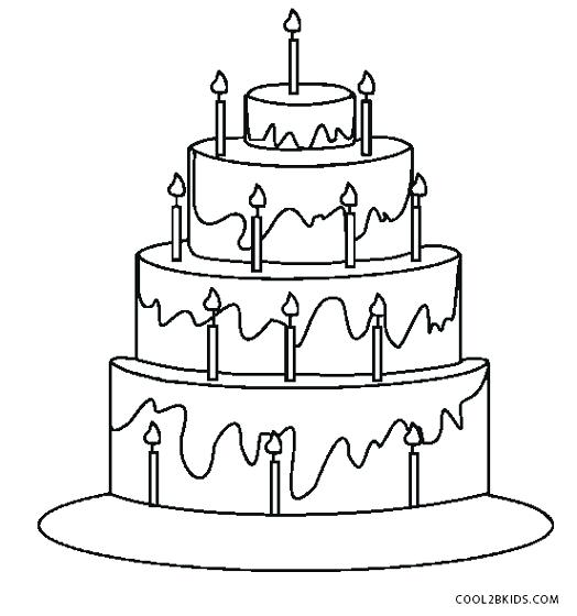 524x560 Free Printable Birthday Cake Coloring Pages For Kids Birthday Cake
