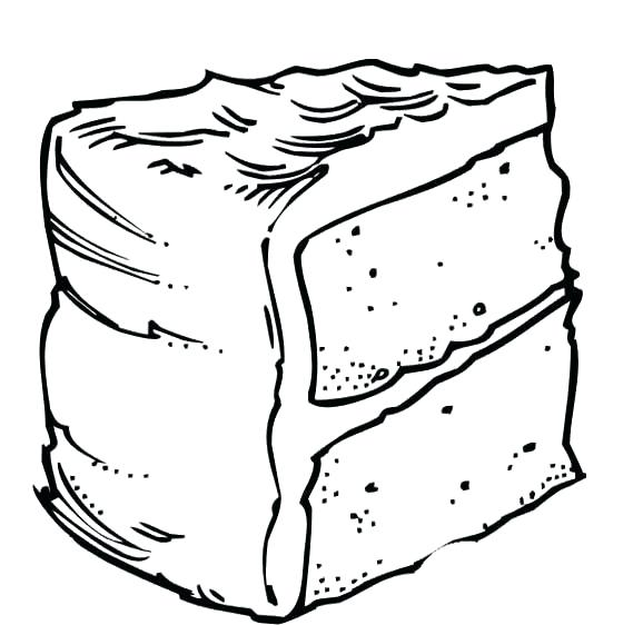 569x562 Fun Slice Cake Coloring Pages Slice Cake Coloring Pages Fun Slice