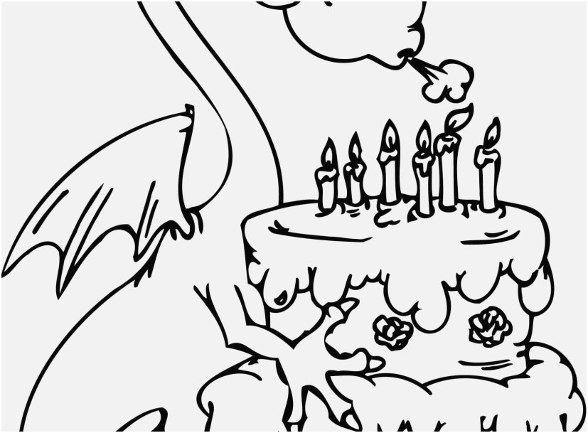 827x609 Happy Birthday Coloring Pages Free Shoot Dragon With Happy