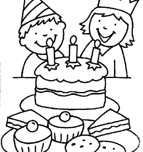 567x600 Party Coloring Pages Birthday Party Colouring Pages Free Printable
