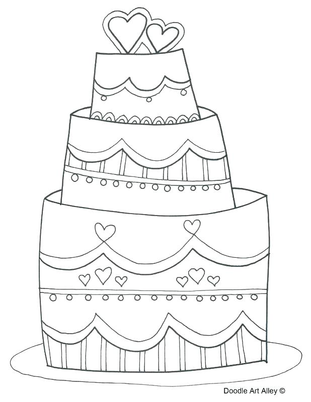 618x800 Wedding Cake Coloring Pages Kids Coloring Travel Wedding Cake