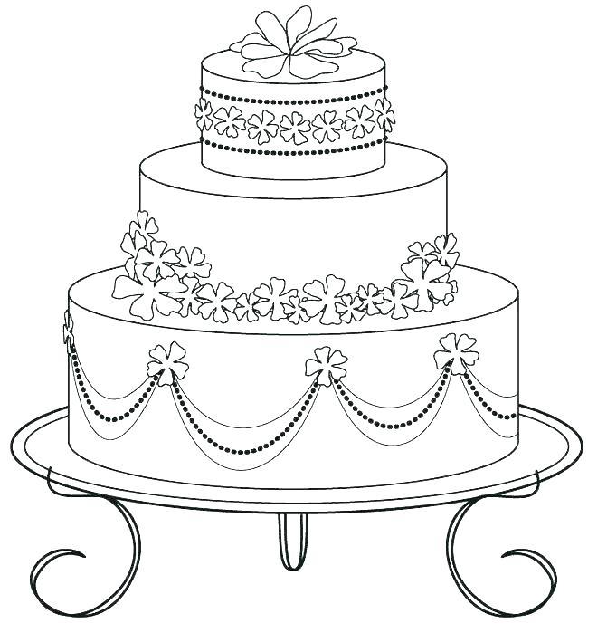 671x699 Birthday Cake Coloring Page Free Printable Printable Coloring