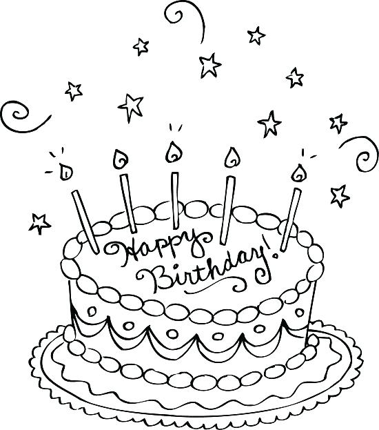 550x623 Birthday Cake Coloring Pages Cake Coloring Pages Birthday Cake