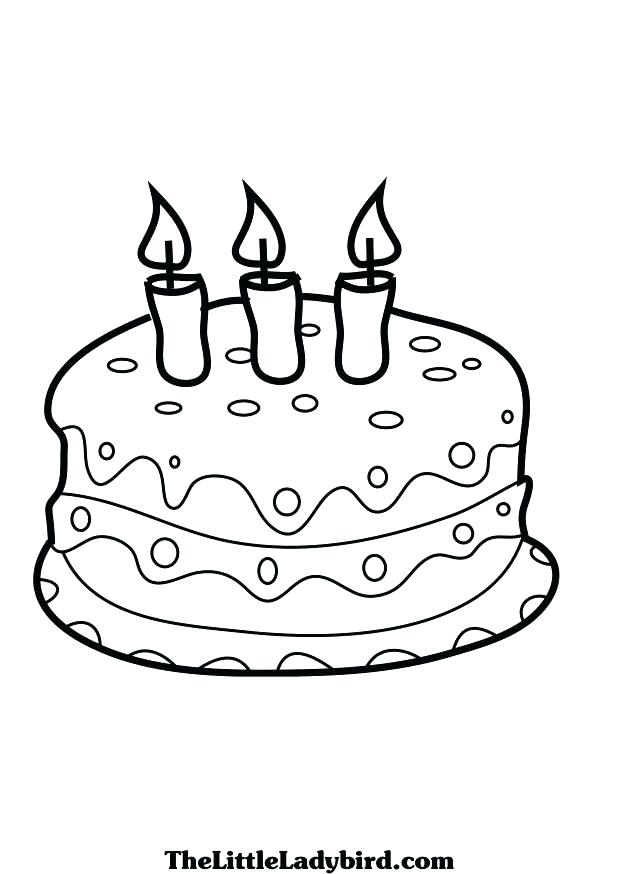 618x874 Cake Coloring Birthday Cake Coloring Pages Cake Coloring Pages