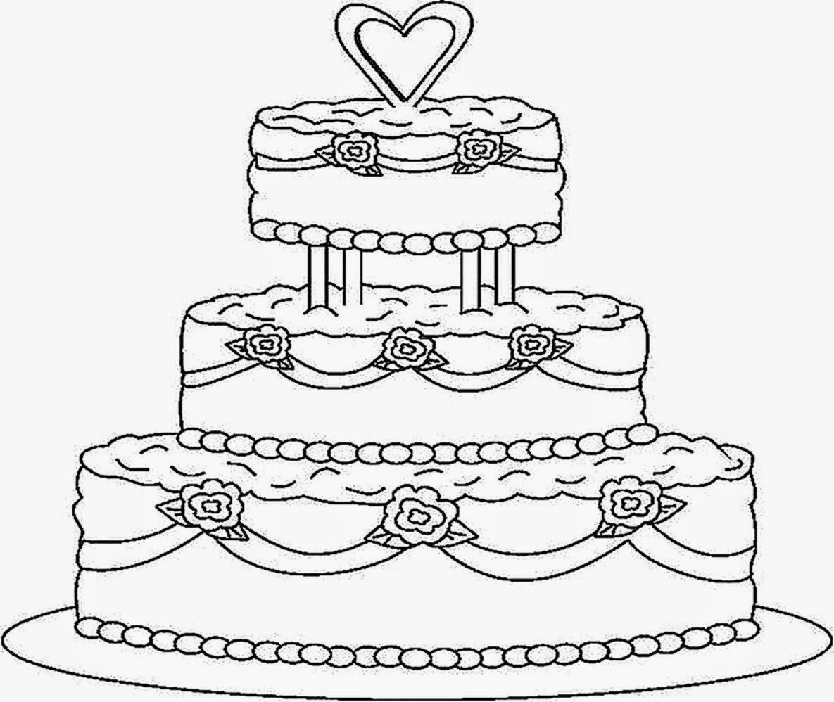 1185x998 Cake Coloring Page Pages Coloringsuite Com Within