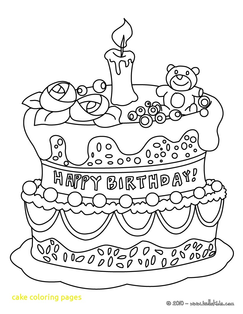 821x1061 Cake Coloring Pages With Birthday Cake Coloring Pages Printable