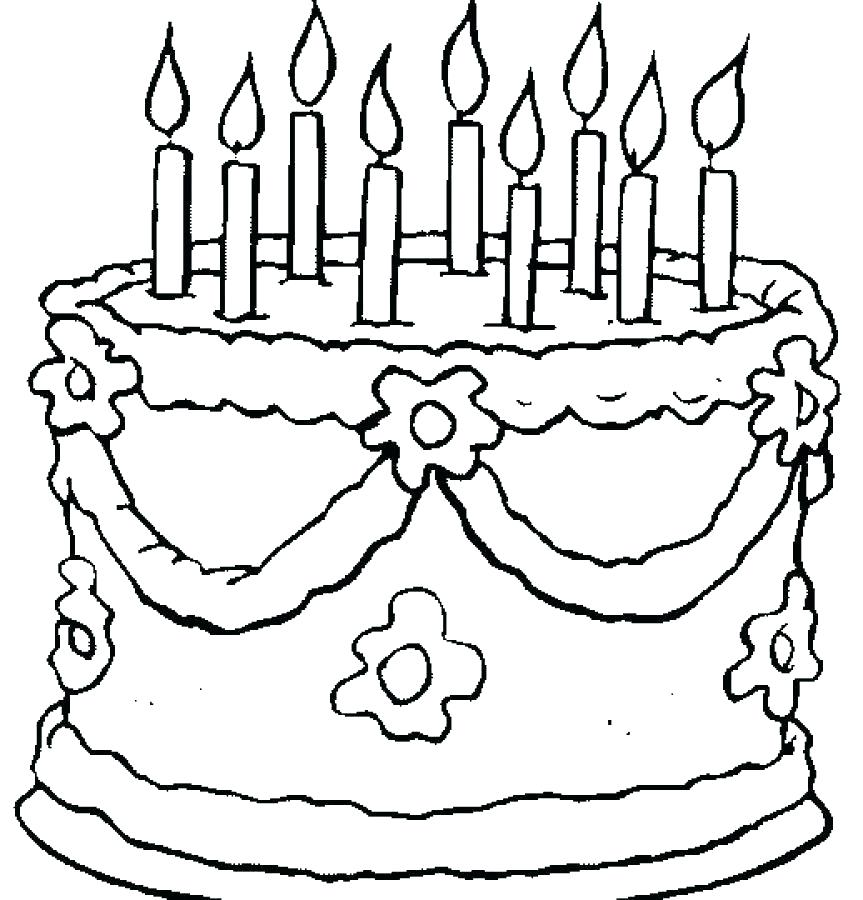 863x900 Coloring Page Birthday Cake Pages Amazing