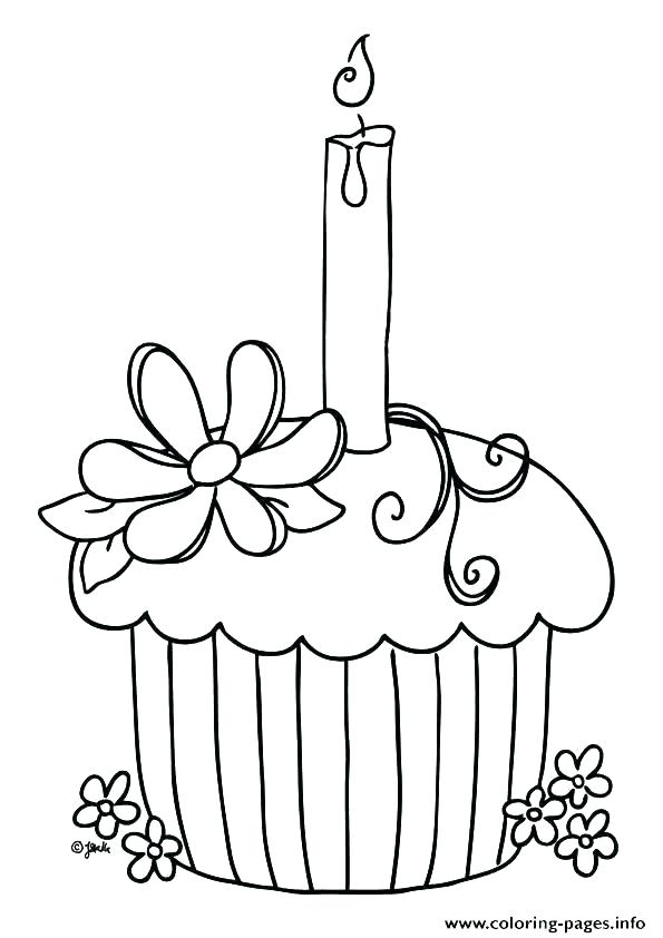 595x842 Coloring Page Birthday Cake Coloring Pages Of Cupcakes Cupcakes