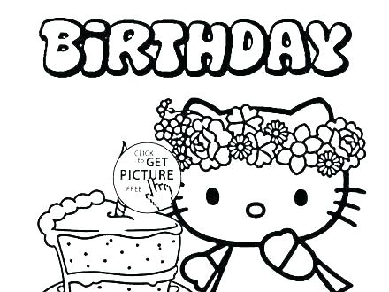 440x330 Coloring Pages Of Birthday Cakes Cake Printable Coloring Pages