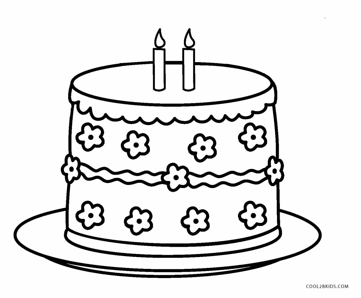 1212x1003 Free Printable Birthday Cake Coloring Pages For Kids