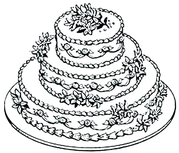 600x512 Birthday Cake Coloring Page Birthday Cake Printable Coloring Pages