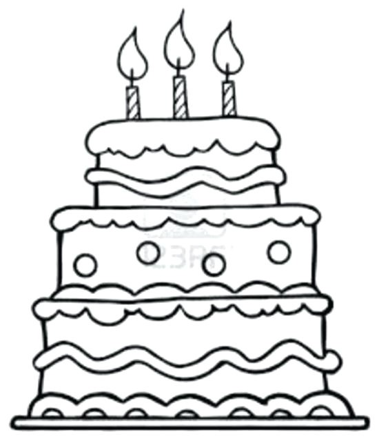 550x639 Lovely Birthday Cake Coloring Pages Coloring Ws