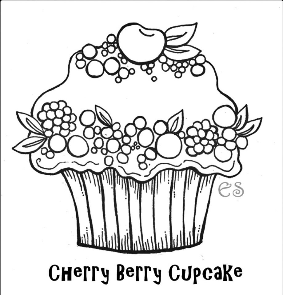 920x959 Printable Cupcake Coloring Pages For Kids Coloring Pages