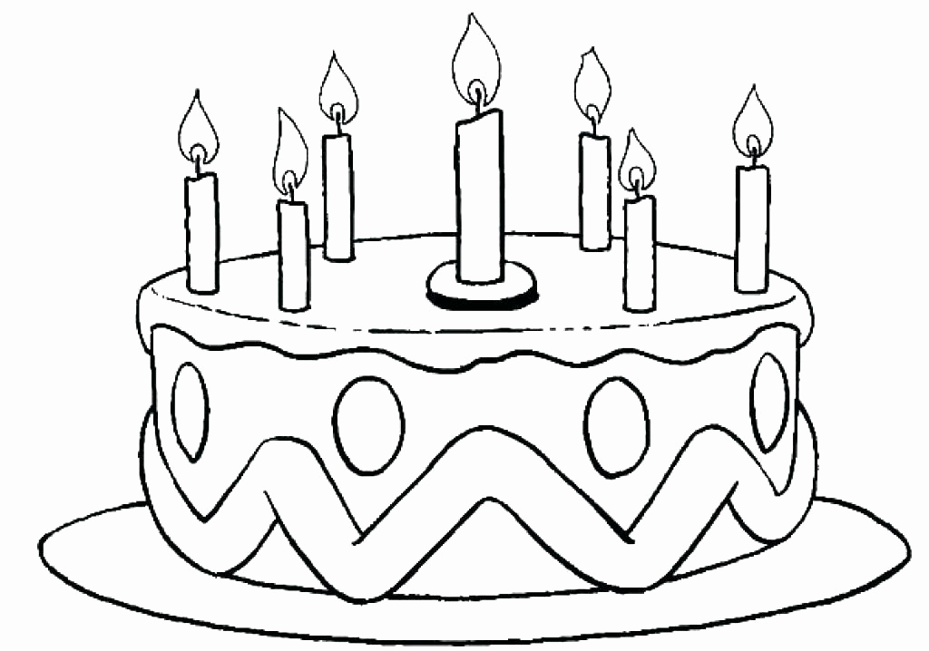 1024x718 Birthday Cake Coloring Pages Printa Coloring Collection Birthday