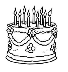 236x249 Birthday Cake Colouring Page Online Birthday Cake, Kids Activity