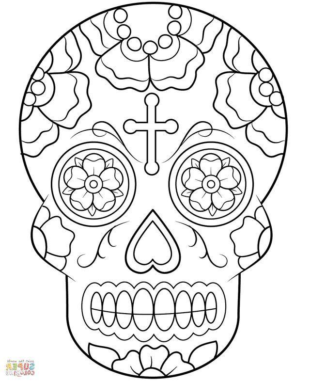 640x788 Calavera Sugar Skull Coloring Page Forever Coloring