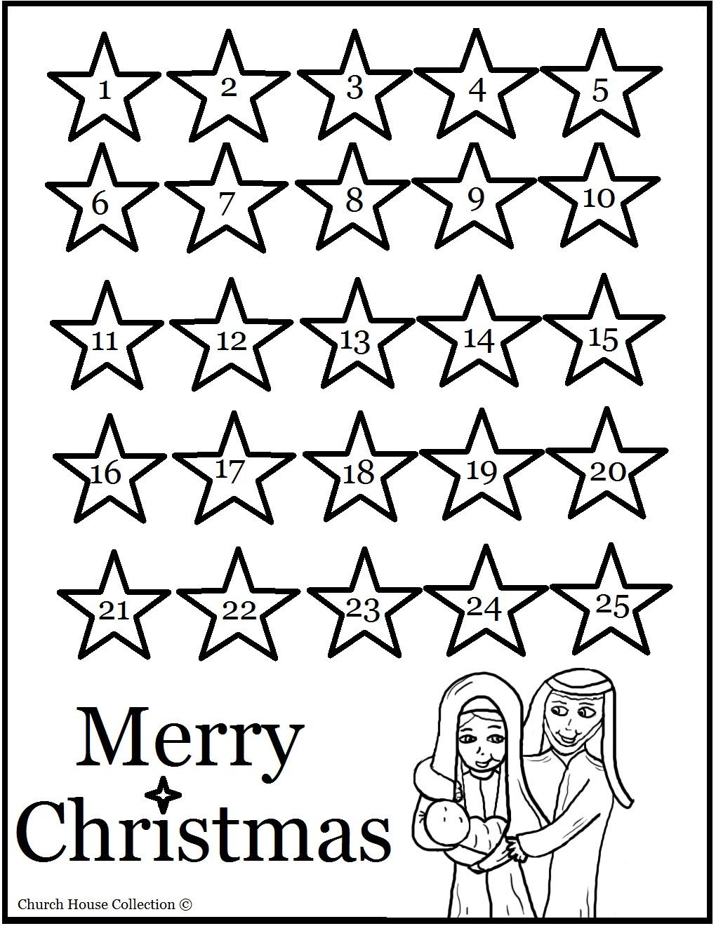 1020x1320 Coloring Advent Calendar Calendar Template