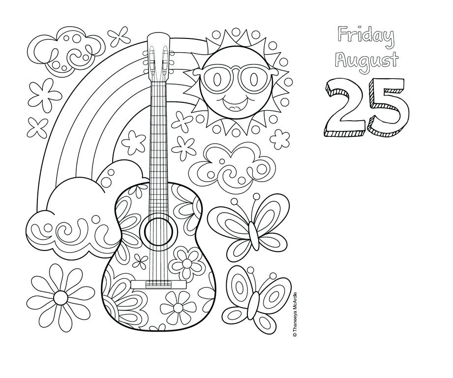 921x768 Coloring Pages Advent Calendar Posh Day