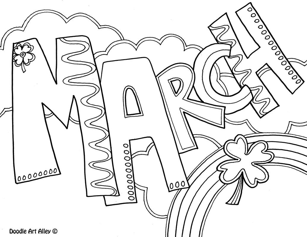 1035x800 February Coloring Pages Months Of The Year Classroom Doodles