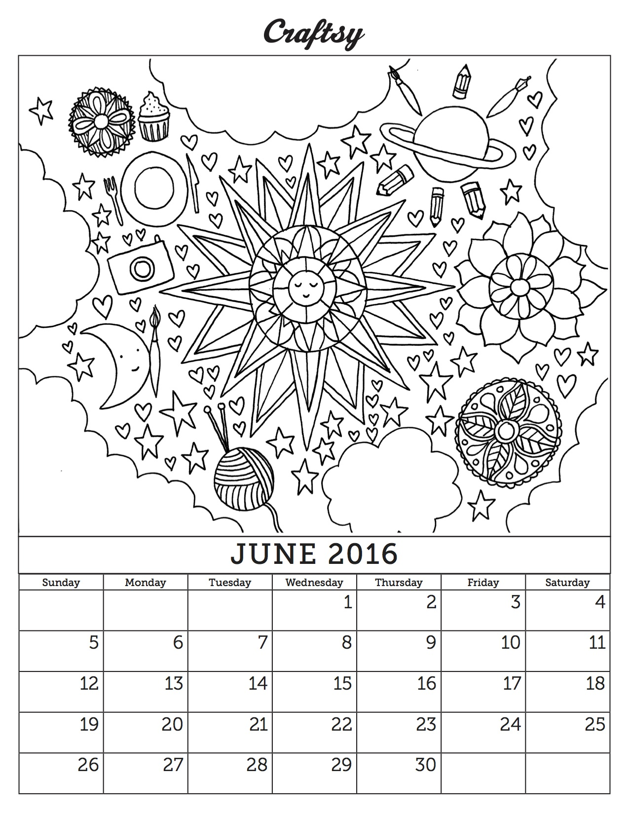 1275x1650 Our Latest Coloring Book Calendar Page Has Arrived, And It