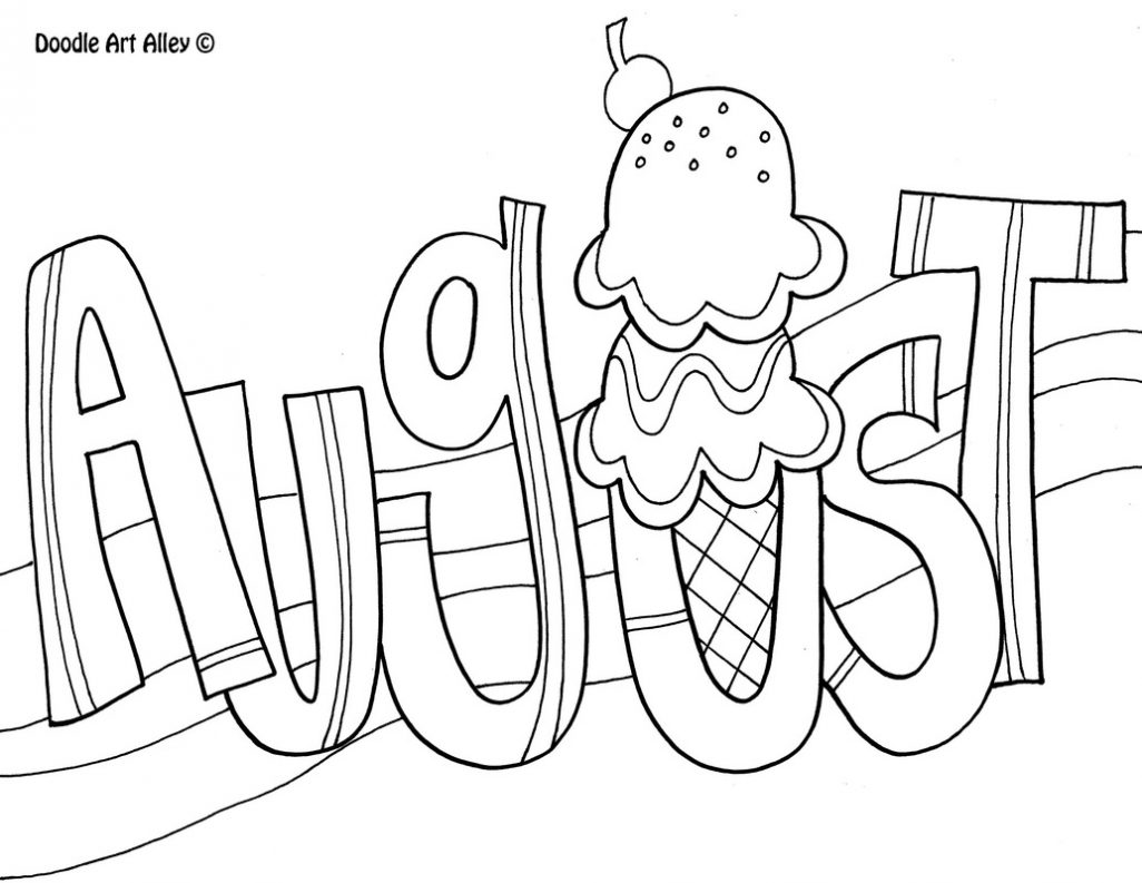 1026x793 August Coloring Pages