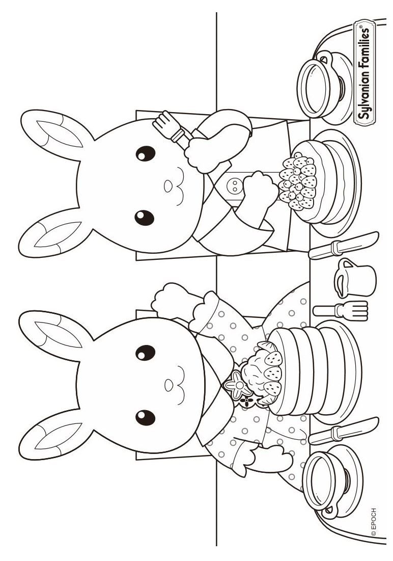 772x1101 Coloring Pages Of Calico Critters On Kids N On Kids