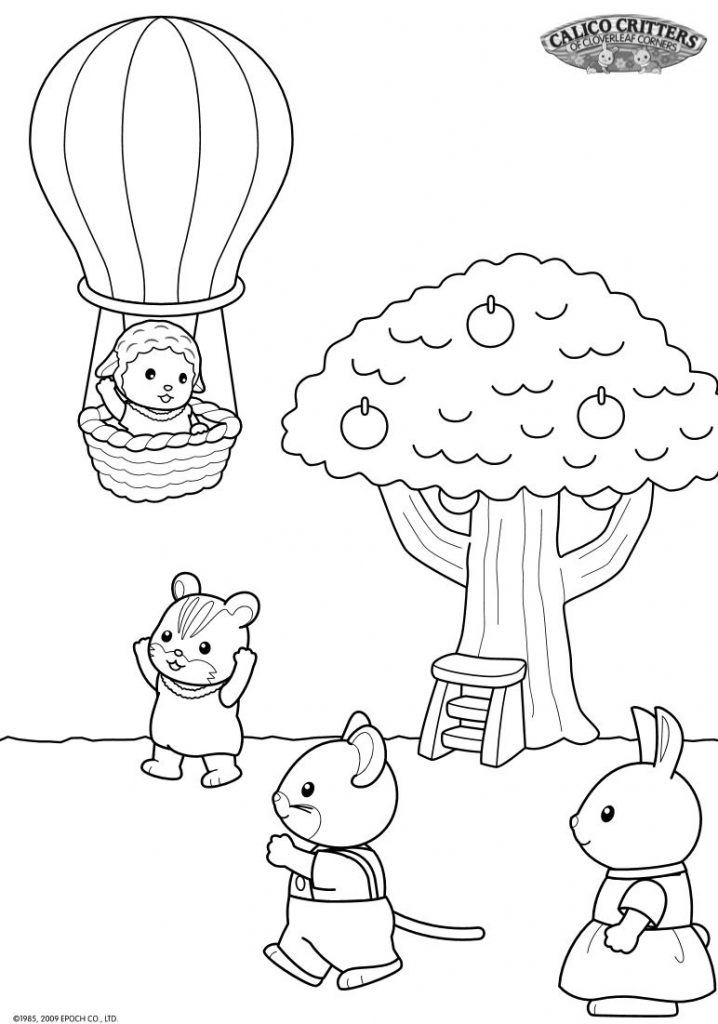 718x1024 Calico Critters Coloring Pages
