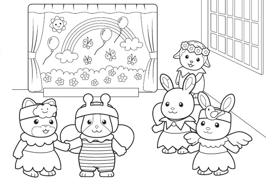912x645 Calico Critters Coloring Pages