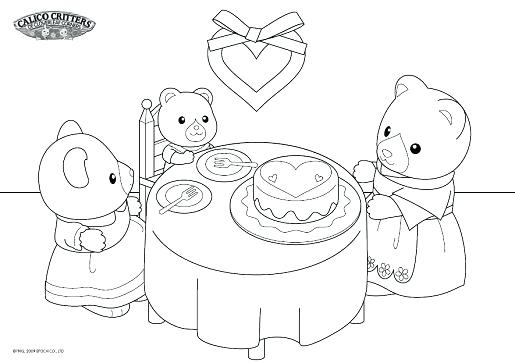 515x363 Calico Critters Coloring Pages Calico Critters Coloring Pages
