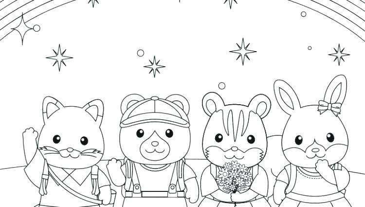 750x425 Calico Critters Free Coloring Pages Kids Coloring Ideas Calico