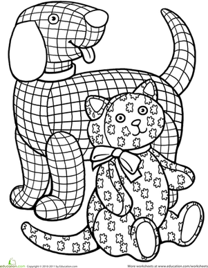 301x387 Color The Gingham Dog And The Calico Cat Worksheet