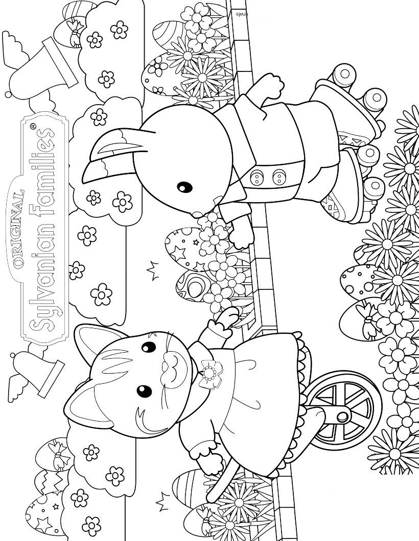 820x1060 Kids N Coloring Pages Of Calico Critters