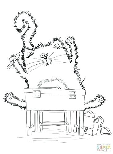 367x500 Pete The Cat Coloring Page Calico Handsome The Cat Images Images