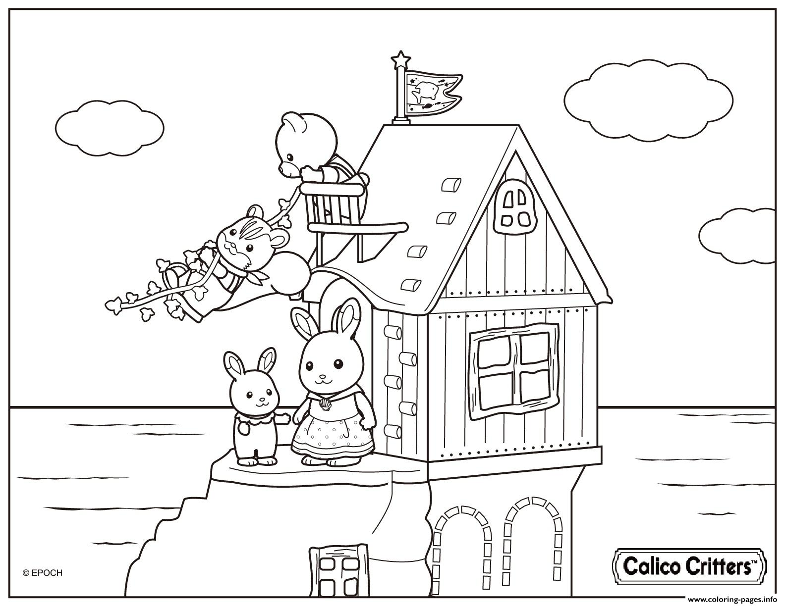 Calico Critters Coloring Pages At Getdrawings Com Free For