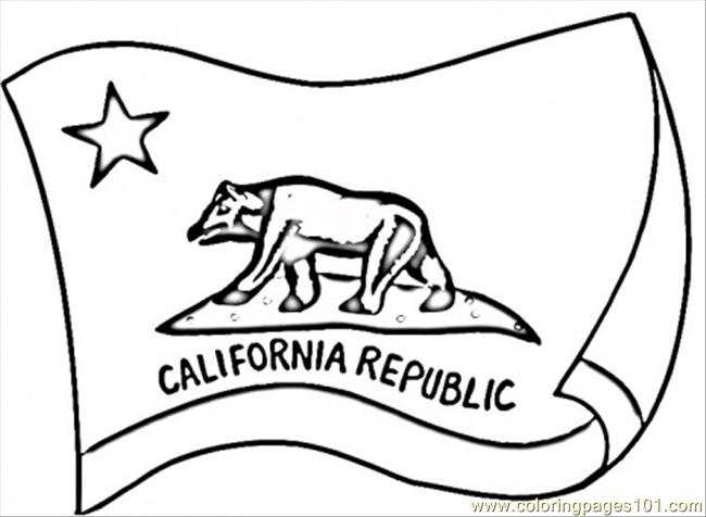 650x476 California Flag Coloring Page