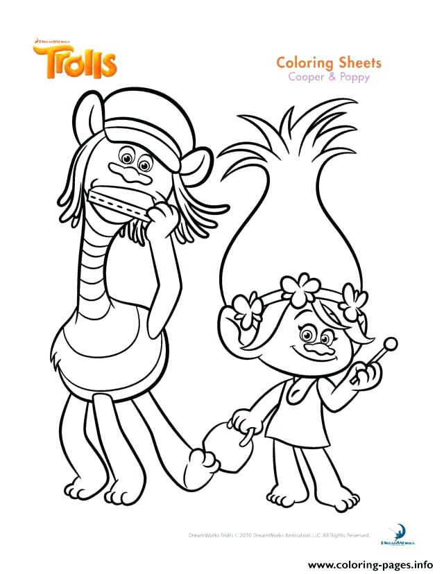 640x828 Poppy Coloring Pages Print Cooper And Poppy Trolls Coloring Pages