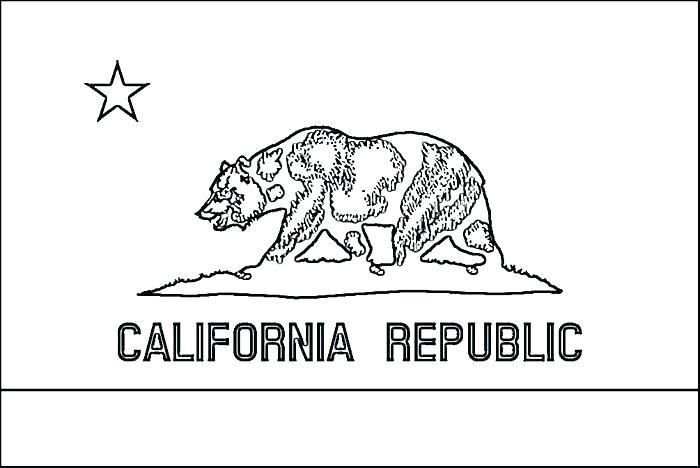 700x468 California State Flag Coloring Page Printable Pages