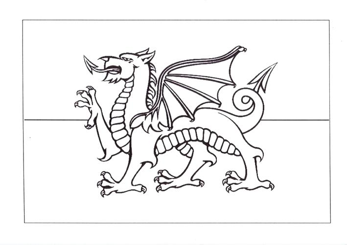 709x501 National Flag To Color Coloring Pages National Flag